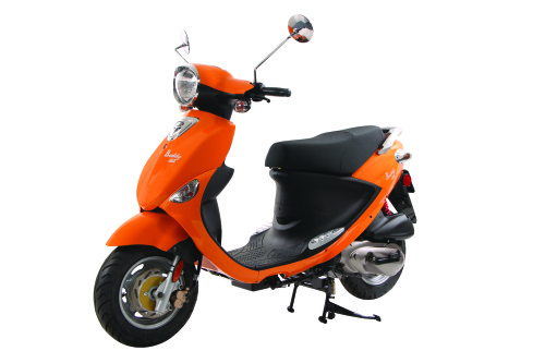Tangerine Orange Genuine Buddy 125