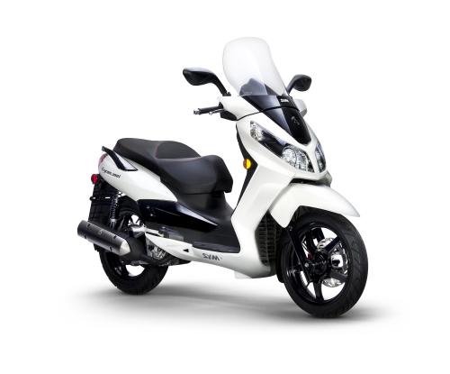 White Sym Citycom 300i_Scoots